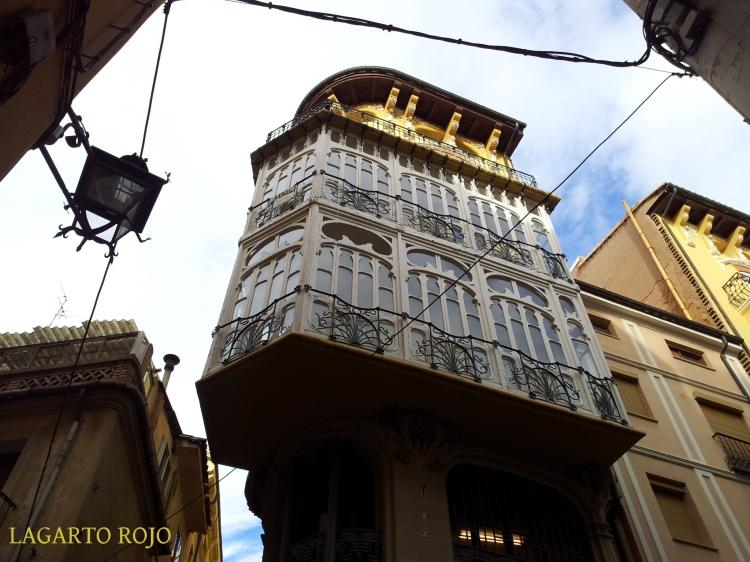 Un detalle de la casa Ferrán, obra de Pablo Monguió