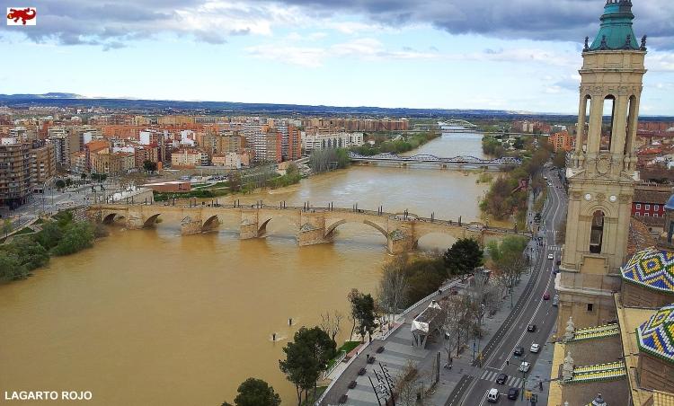 El río Ebro en Zaragoza