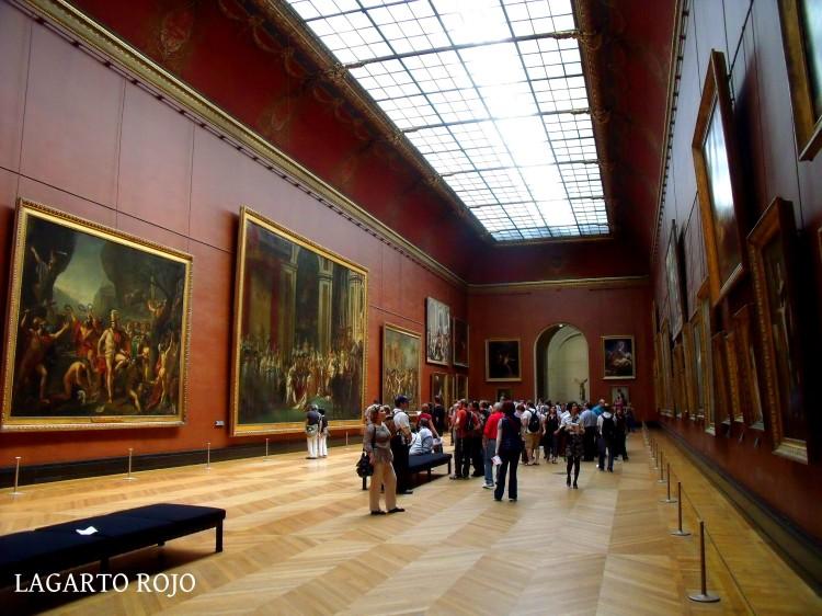 Museo del Louvre. Sala dedicada a la pintura neoclásica francesa