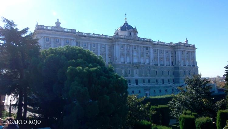 La fachada norte del Palacio Real
