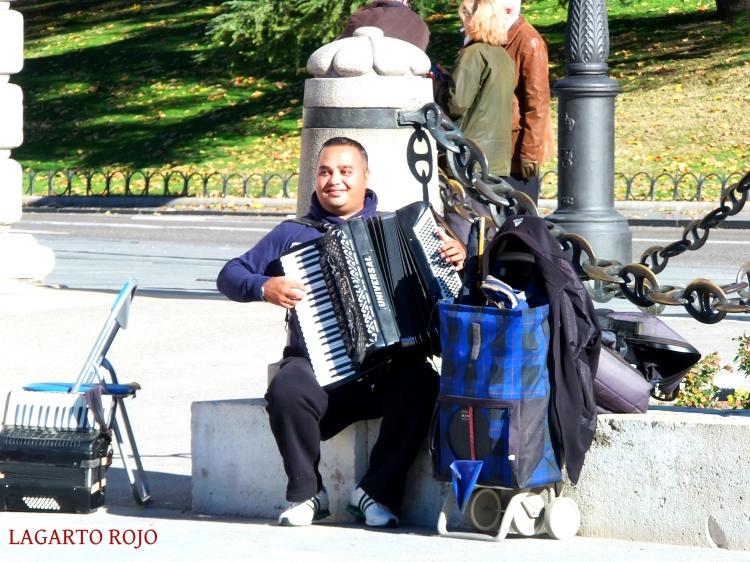 Músico callejero en Madrid