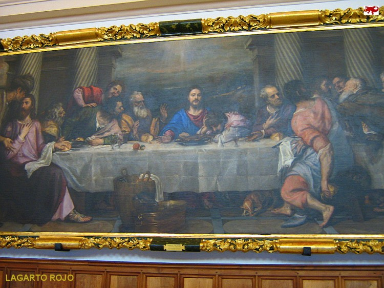 La última cena de Tiziano Vecellio
