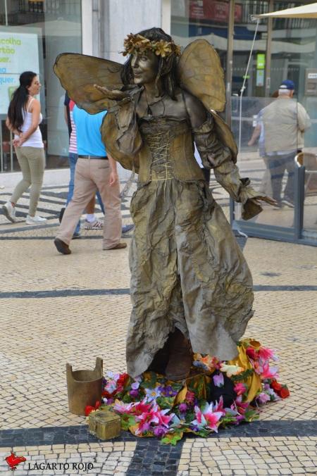 Estatua viviente en Lisboa