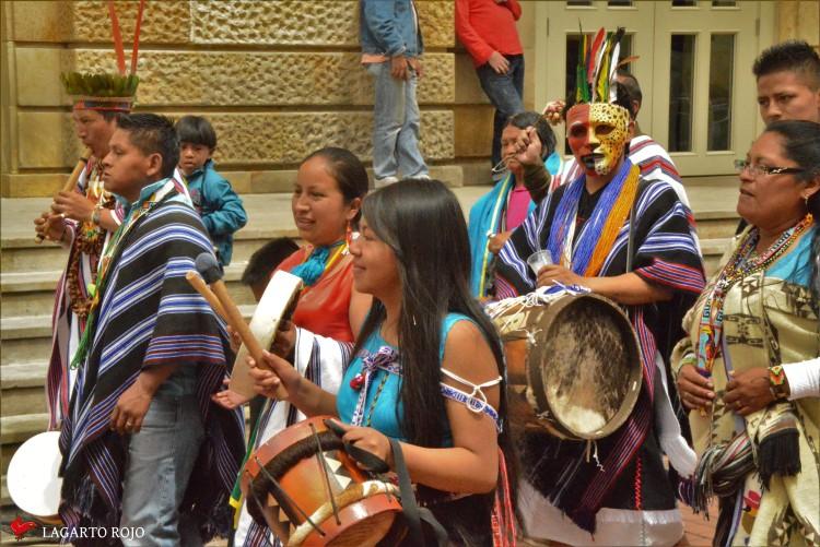 Manifestación de indios